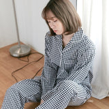 Lovers Couples Pajamas Cotton Long Sleeves and Pants
