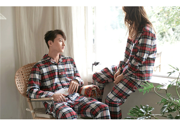 Collton Couple Plaid Pajama Set for Women and Men