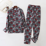 Cotton Pajama Set for Men with Stars