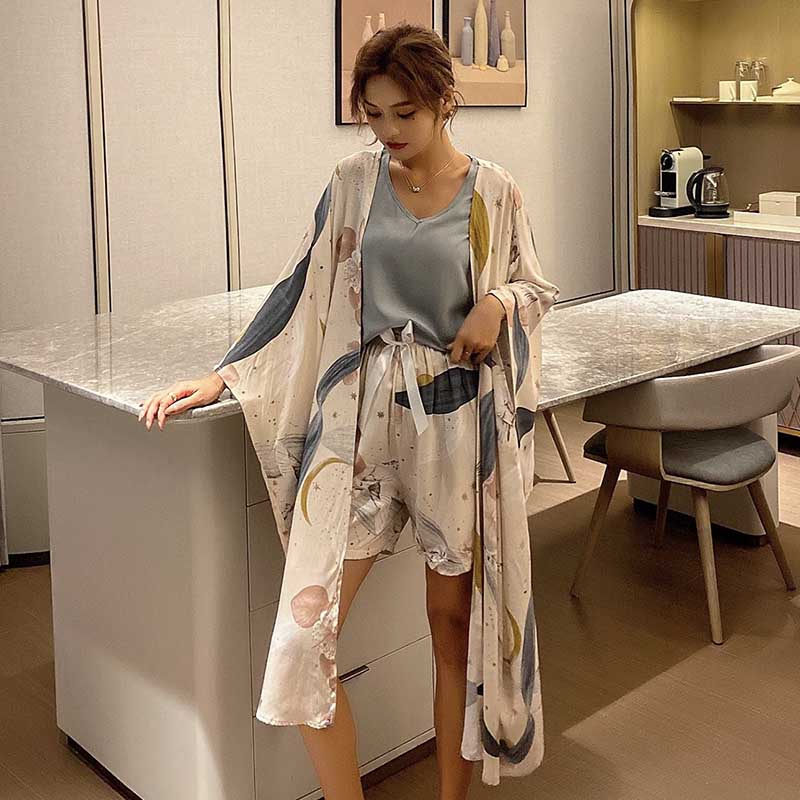 Elegant Pajama set 4Pcs