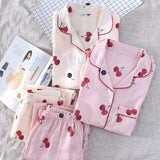 Cotton Pajama Set Long Sleeve and Pants