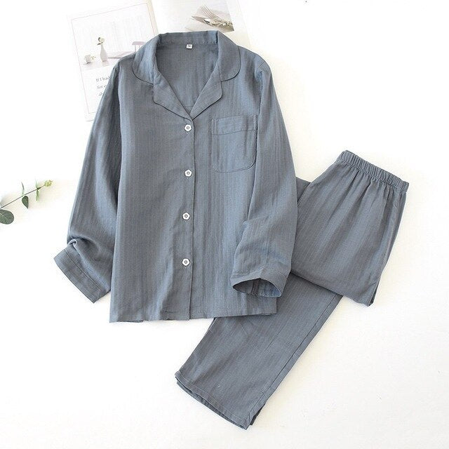 Cotton Pajama Set for Men and Women