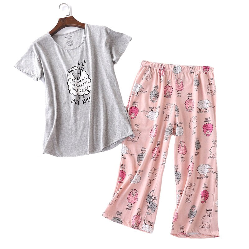 Cute Pajama Set 2 Pieces Cartoon Animal Printed Soft Cotton