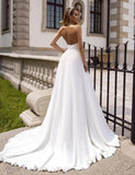 Vintage Wedding Dresses Elegant Sexy Halter Satin Backless Beach Bridal Dress With Pearls