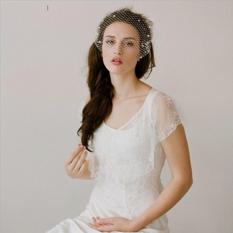 Tulle Wedding Veils With Pearls Bridal Veil Bridal Hair Accessories For Wedding Party
