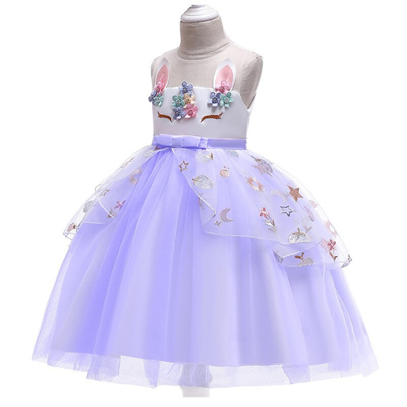 Baby Girl Dress Elegant Lace Embroidery Evening Birthday Dress