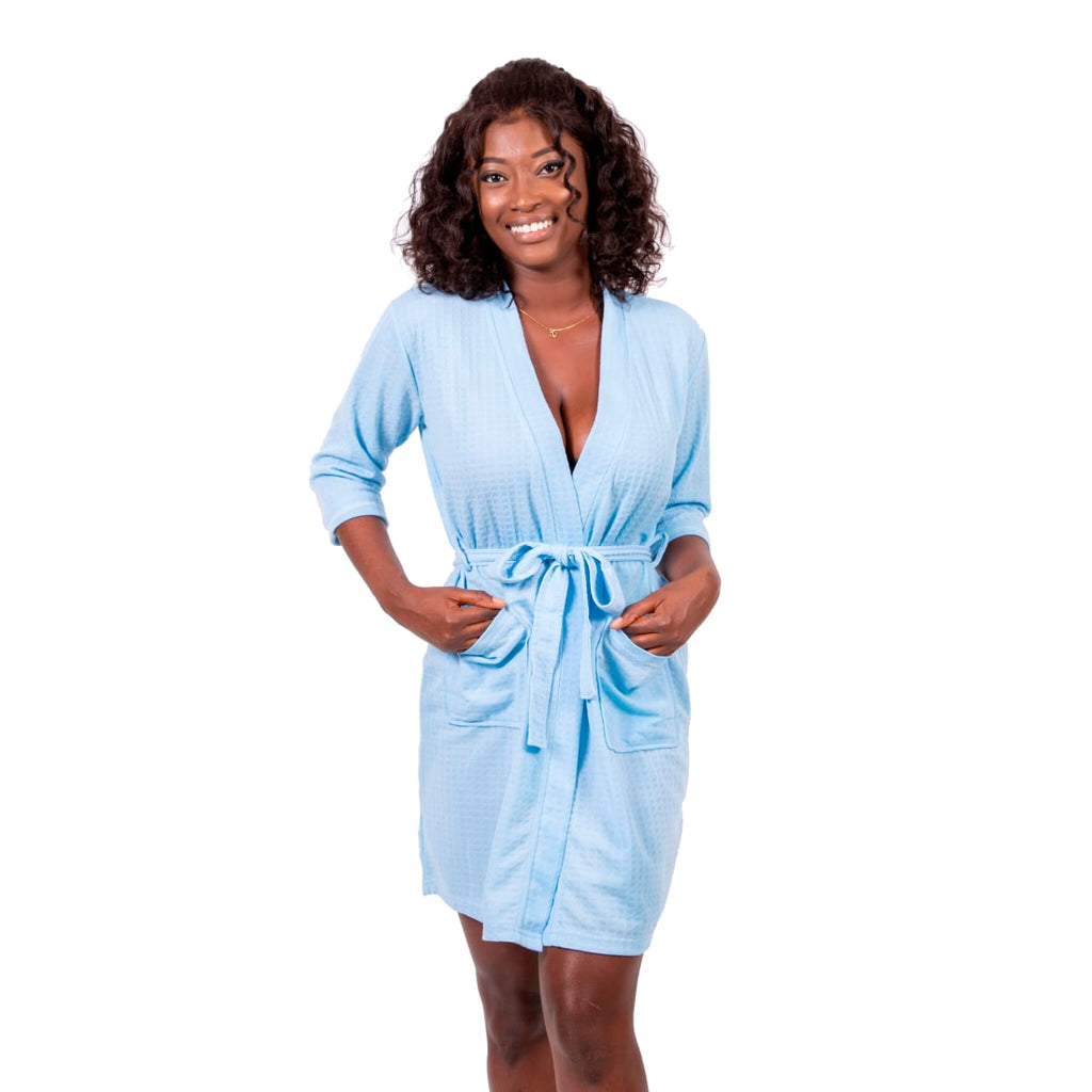 Queen Cotton Waffle-knit Bathrobes