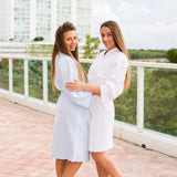 Queen Cotton Waffle Long Bathrobe