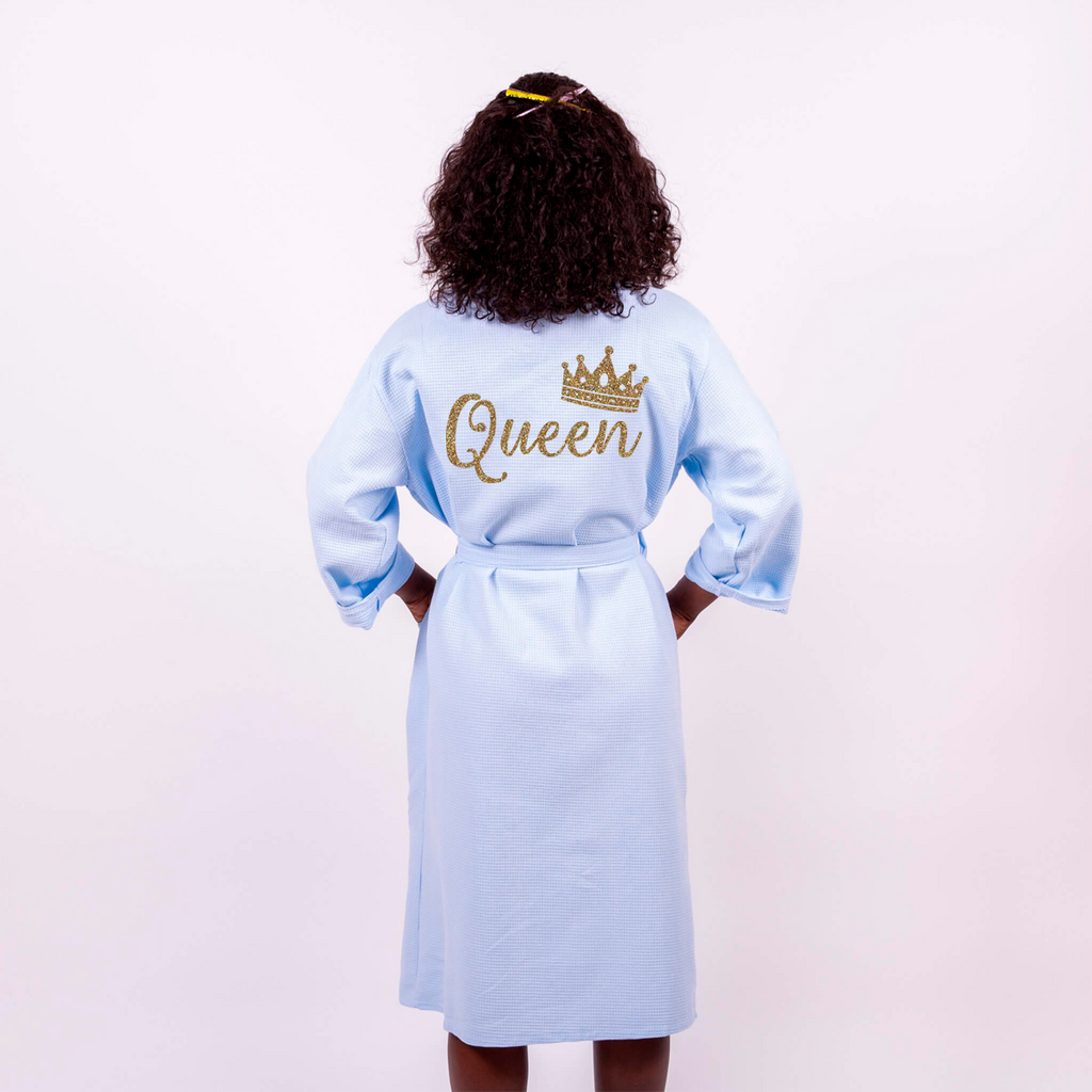 Cotton Waffle Long Queen Bathrobe