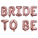 Bride to be Rose Gold Letters Ballons