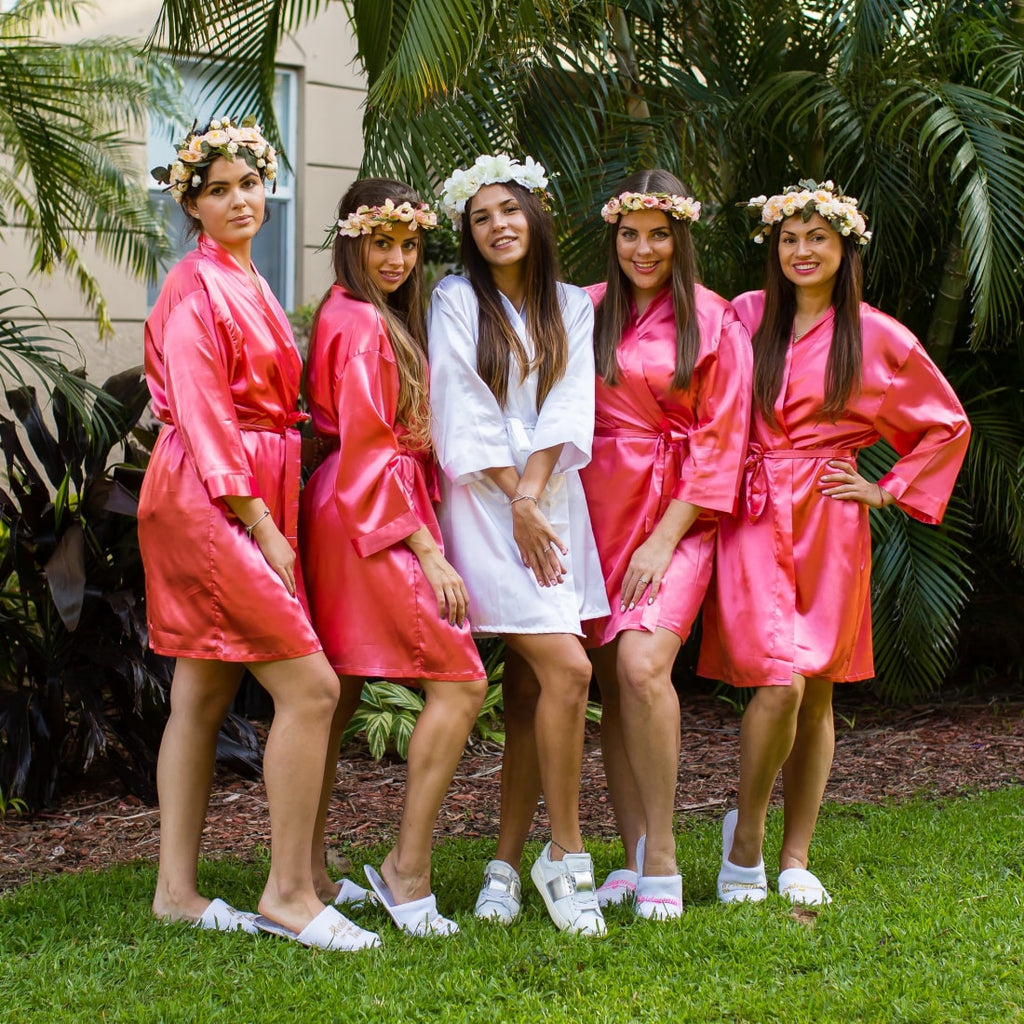 Satin Customized Bridal Robes for Bridesmaid Party