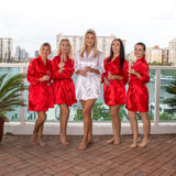 Satin Customized Bridesmaid Robes 13 Colors