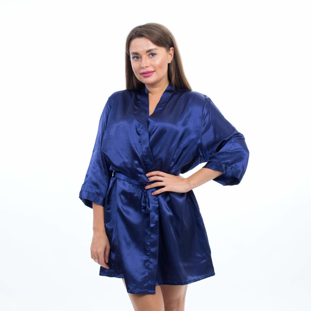 Purple Satin Customized Bridesmaid Robes - Bridesmaids World