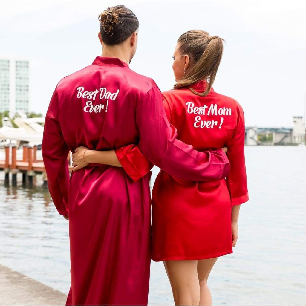 His and Hers Personalized Satin Robes - Bridesmaid's World