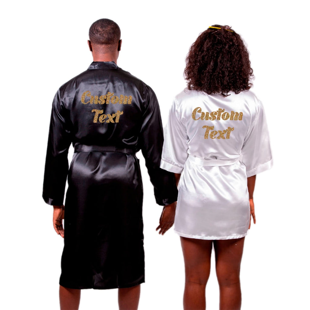 Satin his and hers Personalized Robes Set