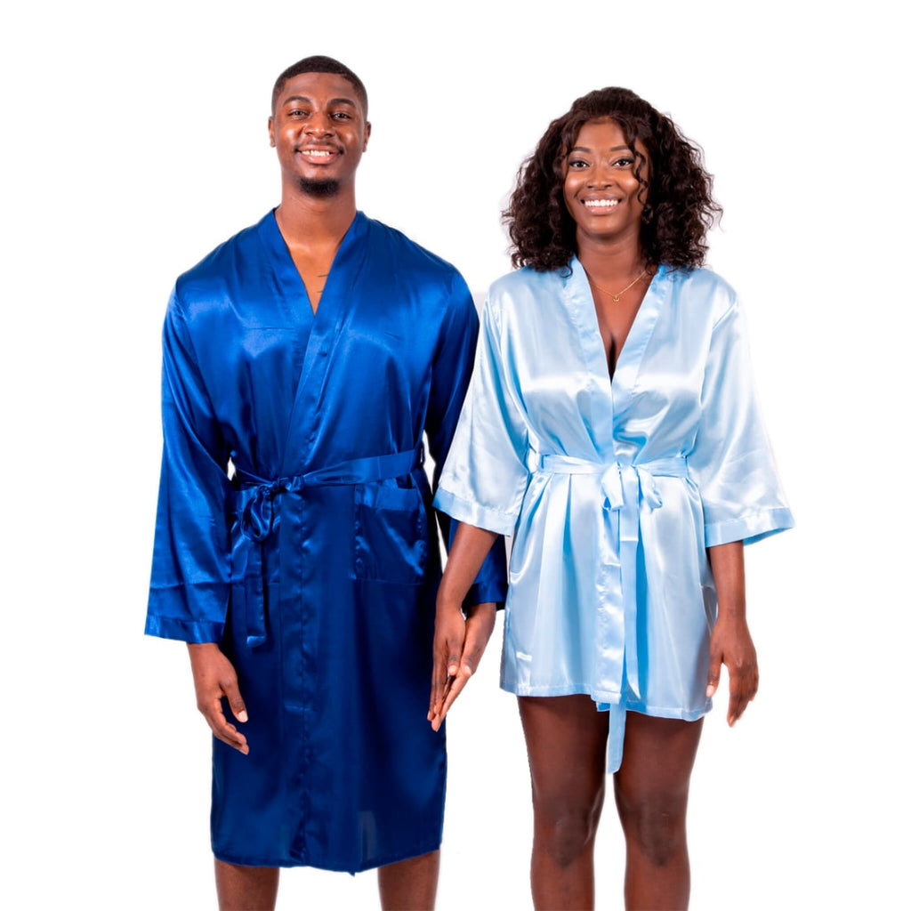 Satin King and Queen Matching Robes Set with Personalization