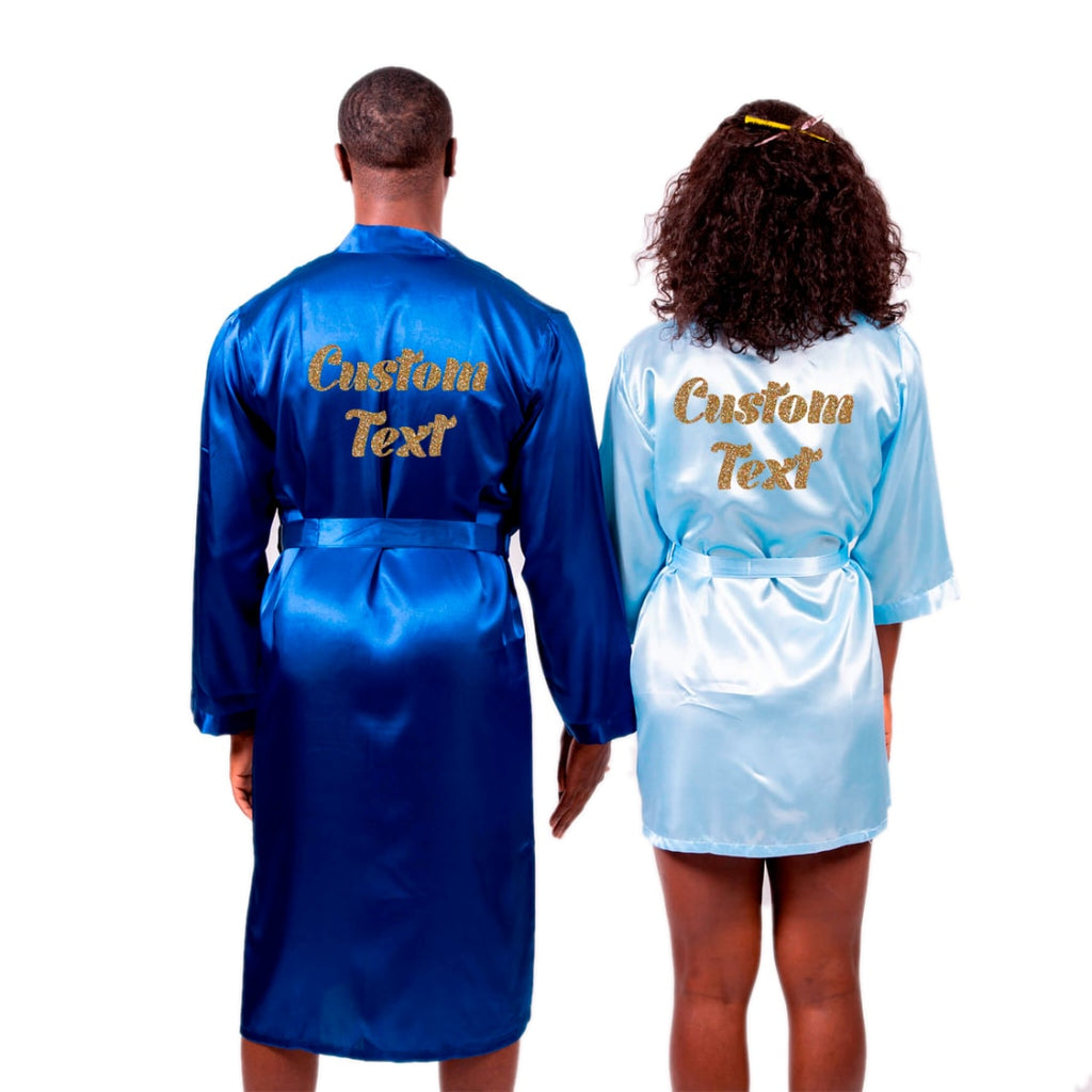 Satin Matching his and hers Robes Set for Couples