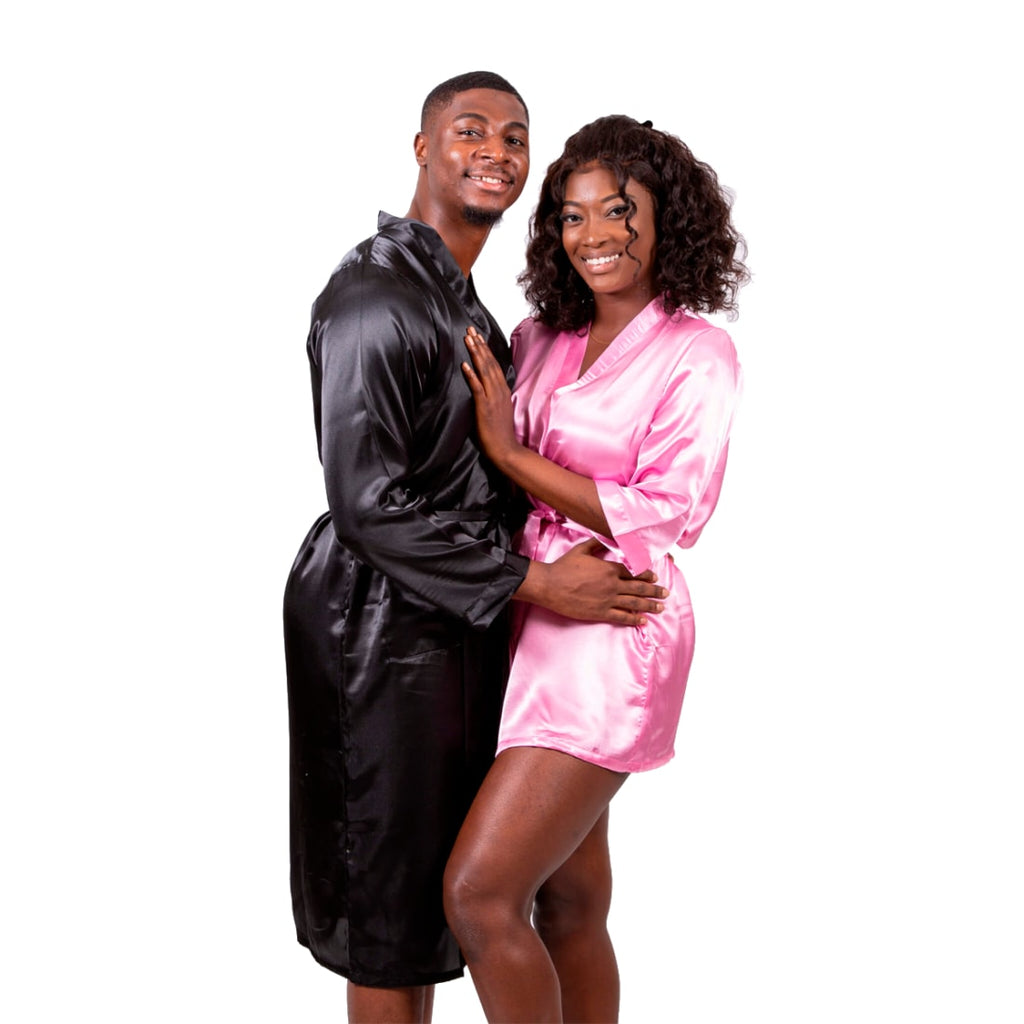 Satin Matching his and hers Set for Couples Robes