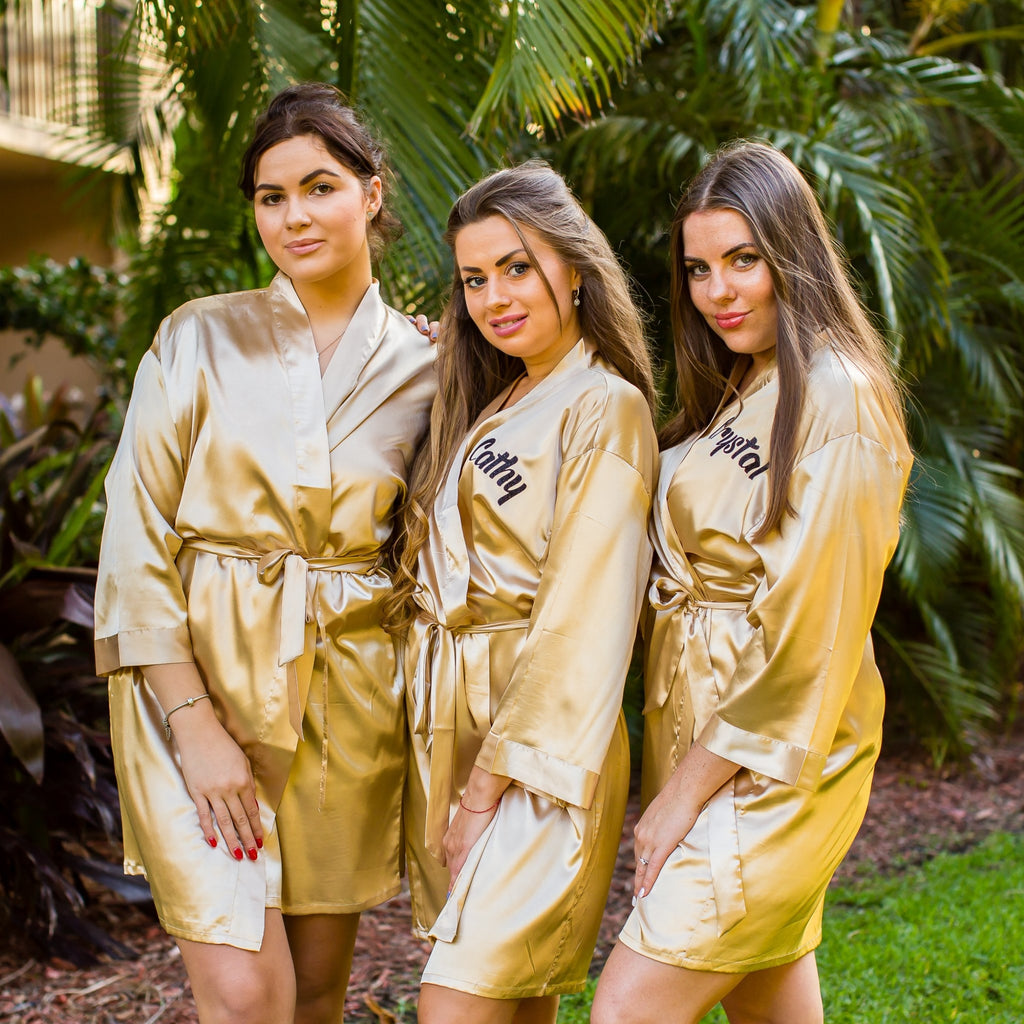 Set of 11 Robes Bridesmaid Satin Robes