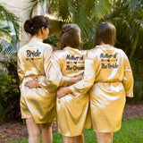 Set of 15 Bridesmaid Satin Robes