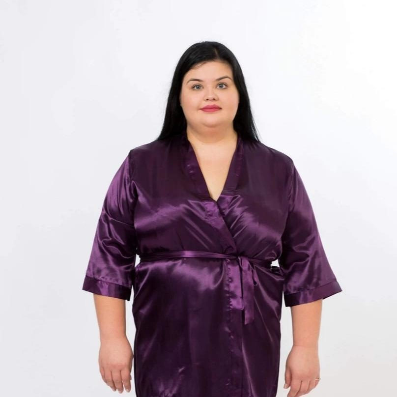 Set of 15 Bridesmaid satin robes - Bridesmaids World