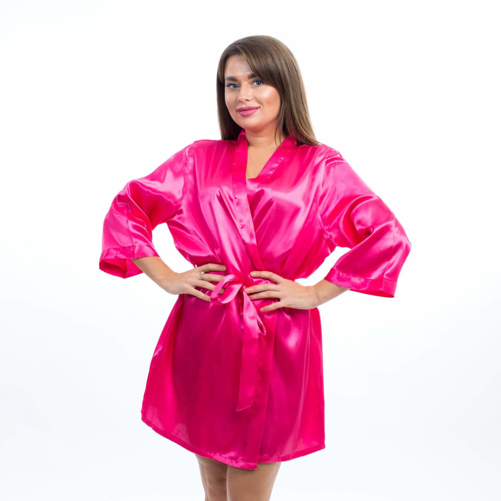 SET OF 4 ROBES BRIDESMAID SATIN ROBES - Bridesmaids World