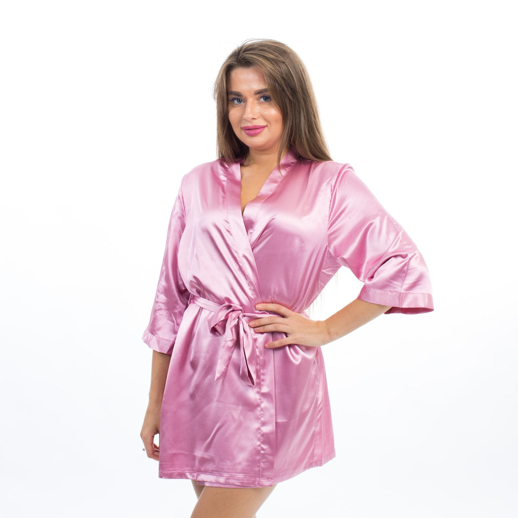 SET OF 6 ROBES BRIDESMAID SATIN ROBES - Bridesmaids World