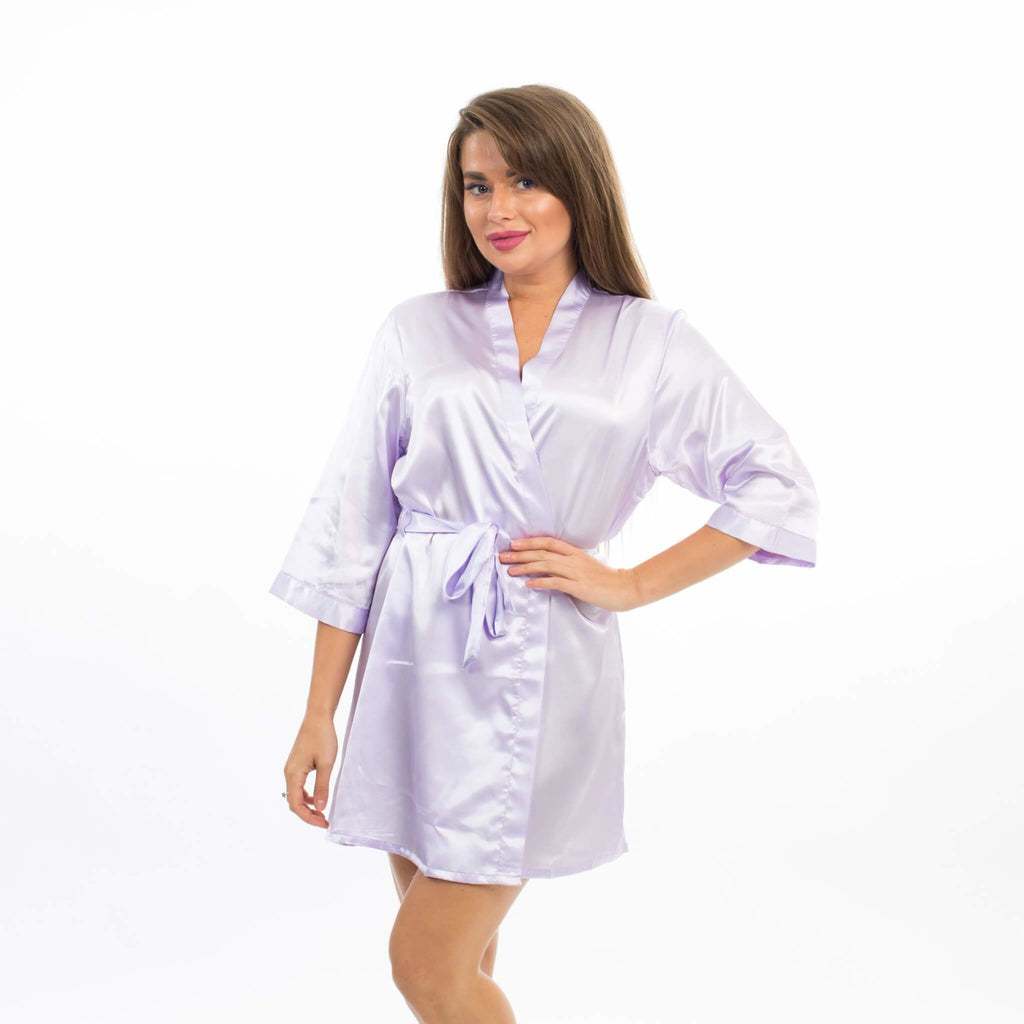 SET OF 7 ROBES BRIDESMAID SATIN ROBES - Bridesmaids World