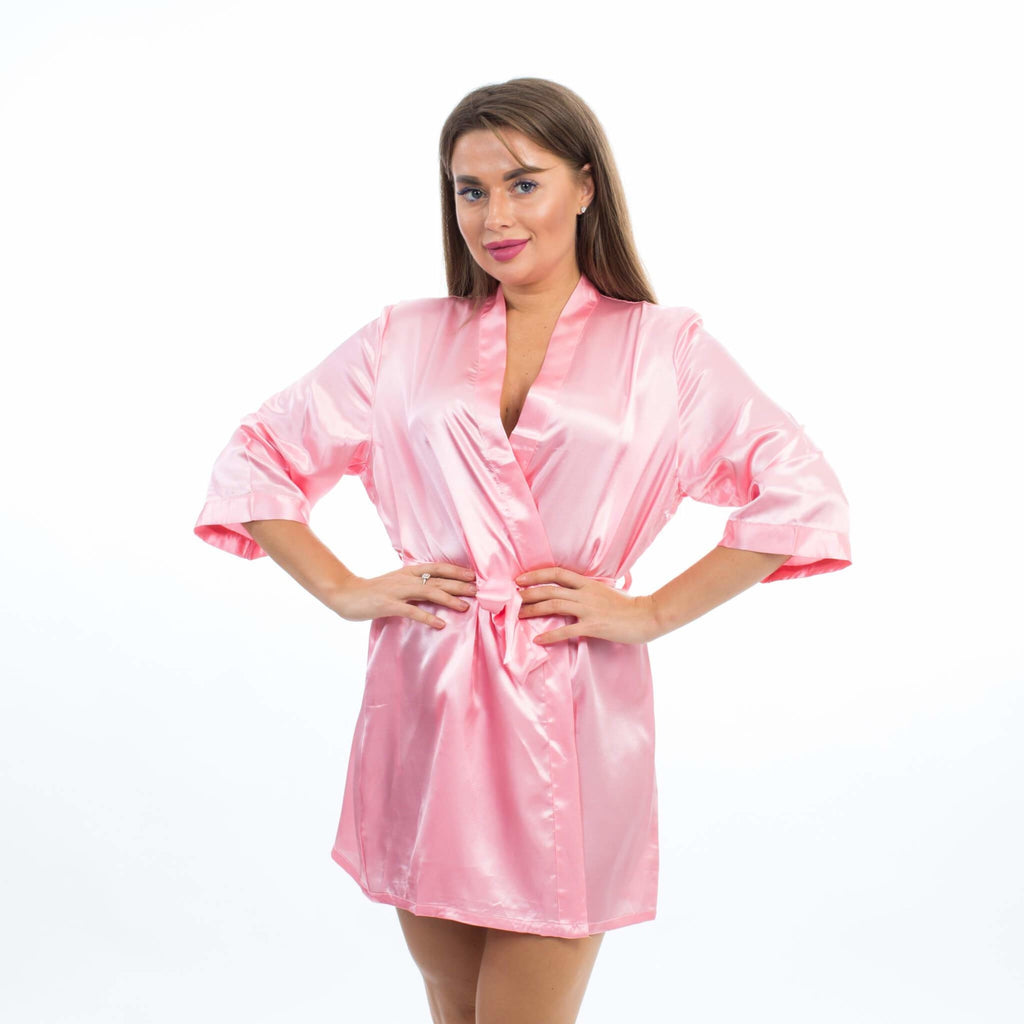SET OF 8 ROBES BRIDESMAID SATIN ROBES - Bridesmaids World