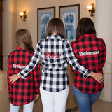 Buffalo Plaid Wedding Day Shirts - Bridesmaid's World