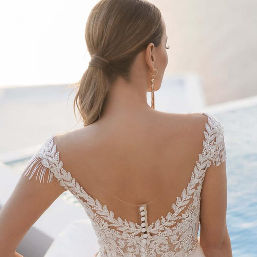 Sexy Backless Sweetheart Lace Vintage Wedding Dress