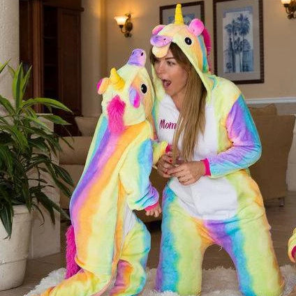 Rainbow Unicorn One piece Pajamas - Bridesmaid's World