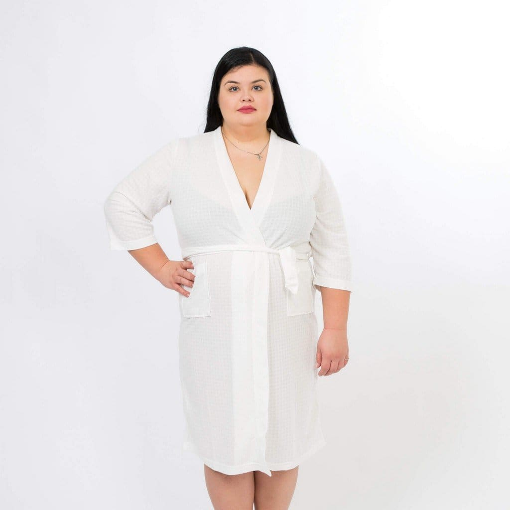 Waffle Customized Cotton Robes - Bridesmaids World