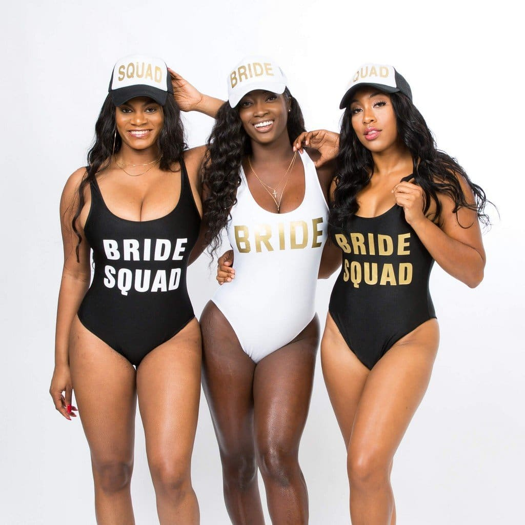 White Bride One Piece Bathing Suit - Bridesmaids World