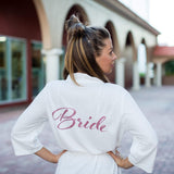 Plus size White Cotton Waffle Knit Bridesmaids Robes - Bridesmaid's World