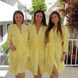 Cotton Waffle-Knit Bridal Customized Robes