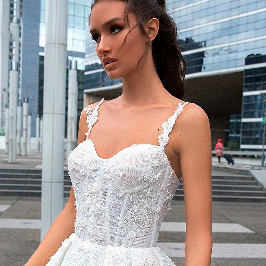 Sexy Backless Sweetheart Lace A Line Wedding Dresses