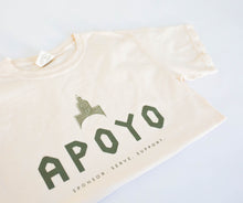 Project Apoyo Shirt in 3 colors: yam, green and ivory.