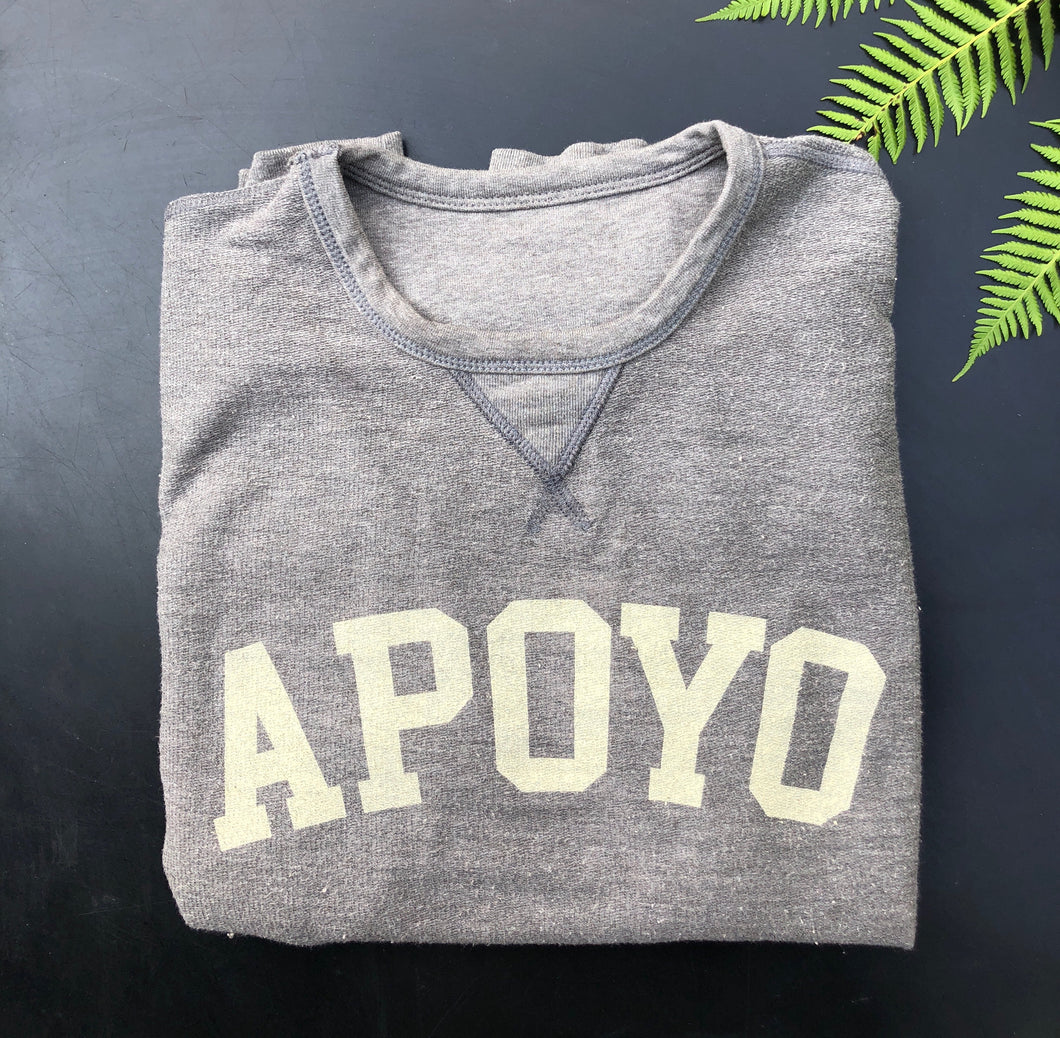 Project Apoyo sweatshirt in grey.