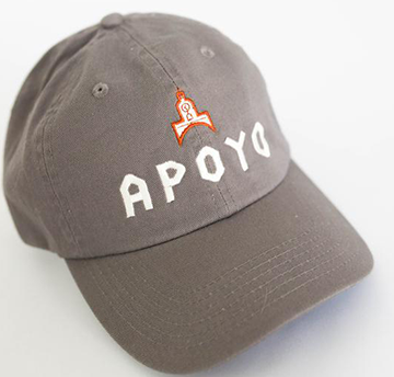 Project Apoyo Dad Hat has a  Low-steep profile with adjustable buckle closure.