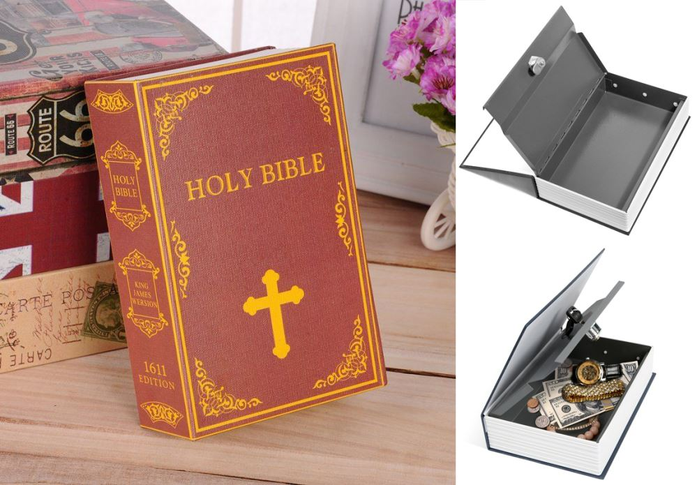 Book Safe With Keys (Holy Bible)