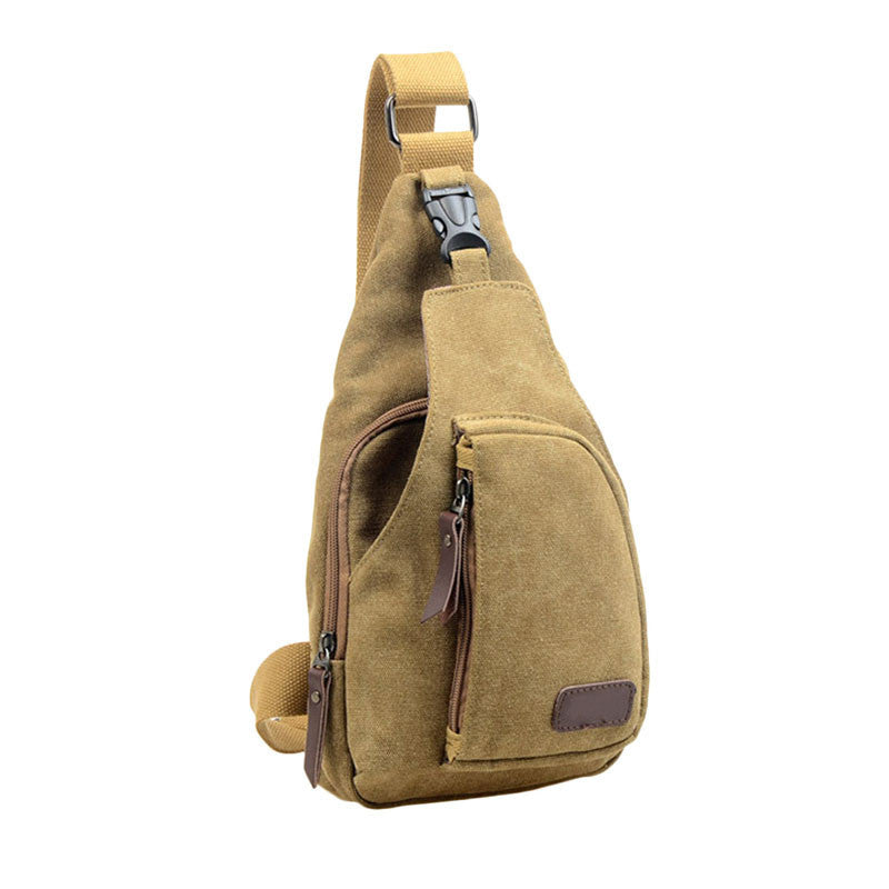 Outdoor Sports Canvas Unbalance Backpack Crossbody Shoulder Bag Chest Bag