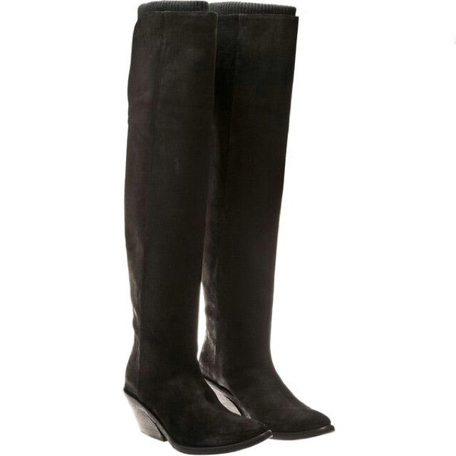 Givenchy Over the Knee Suede Boots