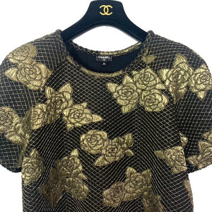 CHANEL Gold Lamè Top