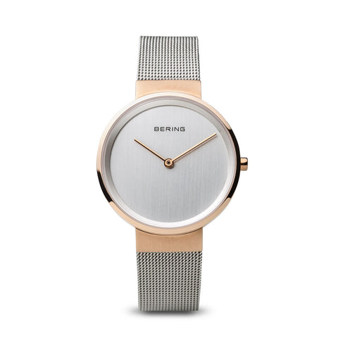 bering women golden watch
