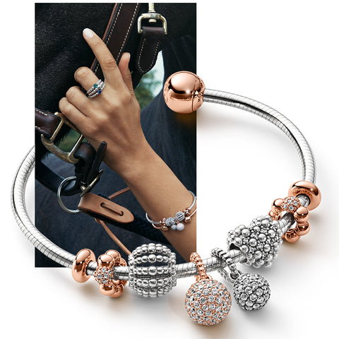 PANDORA Beaded Openwork Charm - New Year, New You