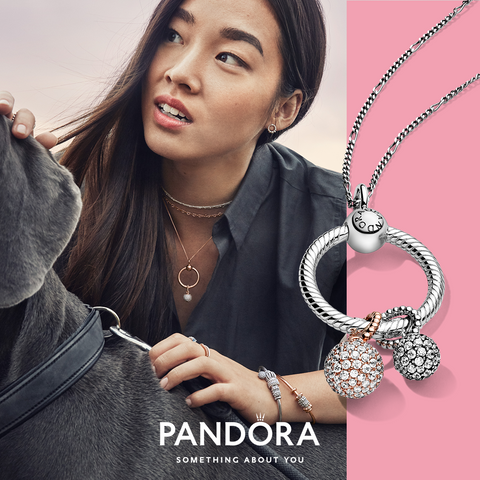 Pandora O Pendant - Pavé Ball Pendant - New Year, New You