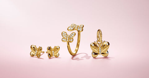 Pandora-shine-butterfly-shape