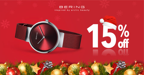 Bering watch perfect Christmas gift 15 percent off