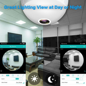 Panoramic IP Camera Bulb